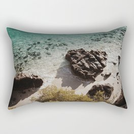 Clear water in a lonely beach Rectangular Pillow