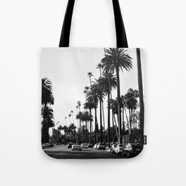 Los Angeles Black and White Tote Bag