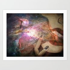 Galaxies Art Print