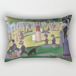 Georges Seurat - A Sunday Afternoon on the Island of La Grande Jatte Rectangular Pillow