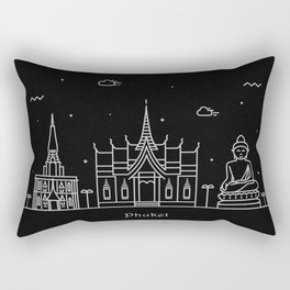 Phuket Minimal Nightscape / Skyline Drawing Rectangular Pillow