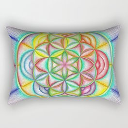 Clues in the Colors - The Rainbow Tribe Collection Rectangular Pillow