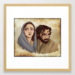 Two For Bethlehem Framed Art Print