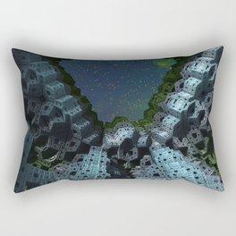Fractalized Void Rectangular Pillow