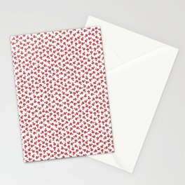 Forget Me Nots - Red on White Stationery Cards