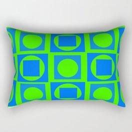 The Blue-Green Art Rectangular Pillow
