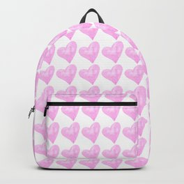 Light Pink Watercolor Heart Pattern Backpack