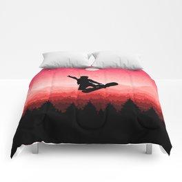 Snowboard Skyline I Comforters