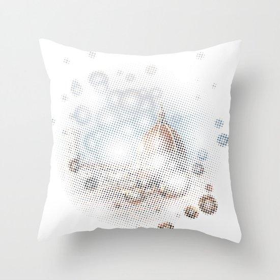 rain drops on Florence Throw Pillow