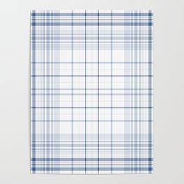 Spring Summer Aqua Plaids , tartans , checks, ss2018 Poster