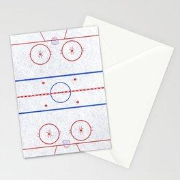 Hockey Rink Stationery Cards