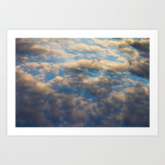 Heavenly Clouds Art Print