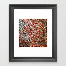 Red Leaves, Grey Stones Framed Art Print