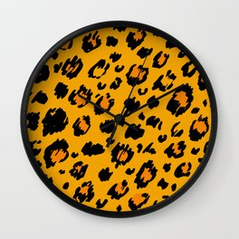 Cheetah skin pattern design Wall Clock