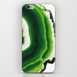 Green Agate Geode slice iPhone Skin