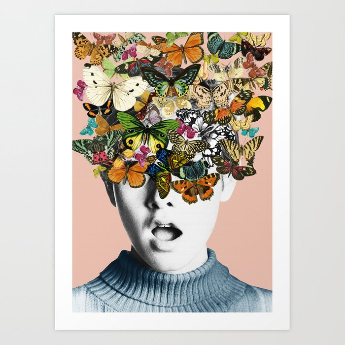 Twiggy Surprise Art Print