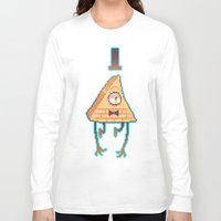 bill cipher Long Sleeve T-shirts featuring Gravity Falls - Bill Cipher pixel by desmormos