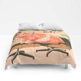Farm Animals in Chairs #3 Pig Comforters