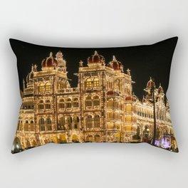 Mysore Palace on Dasara Rectangular Pillow