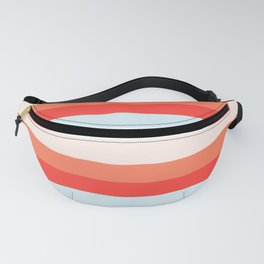 lumpy or bumpy lines abstract and colorful - QAB268 Fanny Pack