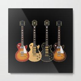 Four Electric Guitars Metal Print