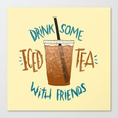 Happy National Iced Tea Day! Canvas Print