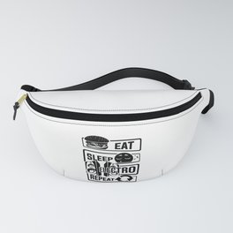 Eat Sleep Electro Repeat - Party Festival Music Fanny Pack