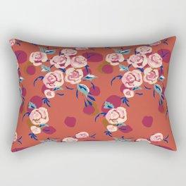 Painty Roses Burnt Orange Rectangular Pillow