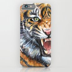 Tiger Watercolor Wild Animal Jungle Animals Slim Case iPhone 6