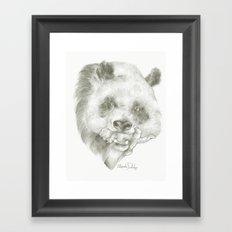 Giant Panda Mother Framed Art Print