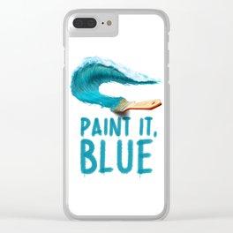 Paint It, Blue Clear iPhone Case
