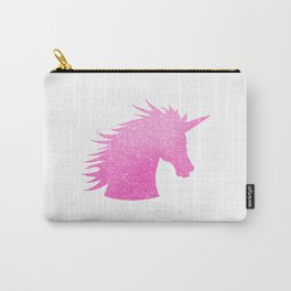 Pink Glitter Unicorn Carry-All Pouch