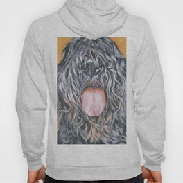 Bouvier Des Flandres dog portrait from an original fine art painting by L.A.Shepard Hoody