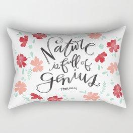 Nature is full of Genius Rectangular Pillow
