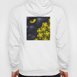 BLACK CAT with FENNEL FLOWERS Hoody