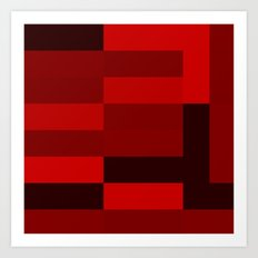 shades of red abstract Art Print