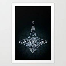 Inception - Top Maze Art Print