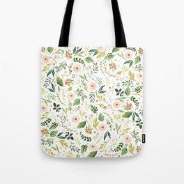 Botanical Spring Flowers Tote Bag