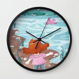 Giadina at the creeck Wall Clock