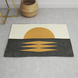 Sunset Geometric Midcentury style Rug