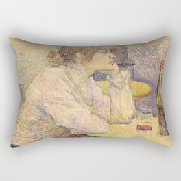 "Henri de Toulouse-Lautrec ""The Hangover (Suzanne Valadon)"" Rectangular Pillow"