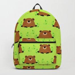 Adorable Groundhog Pattern Backpack