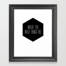 Wild Thing Nursery Print Framed Art Print