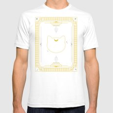Artemis White Mens Fitted Tee SMALL