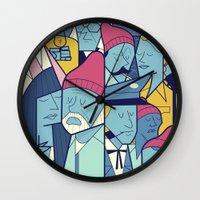 ale giorgini Wall Clocks featuring The Life Acquatic with Steve Zissou by Ale Giorgini