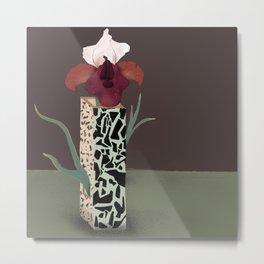 Vase I Iris Metal Print