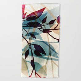 Flood of Leafs Beach Towel
