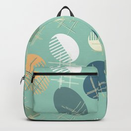 Comb and hand-mirror abstract Backpack