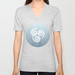 Avatar Air Bending Element Symbol Unisex V-Neck