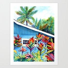 Hanalei Cottage Art Print